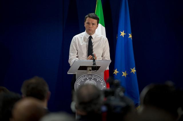 Le Premier ministre italien Matteo Renzi à Bruxelles mars 2014. [Palazzo Chigi/Flickr]