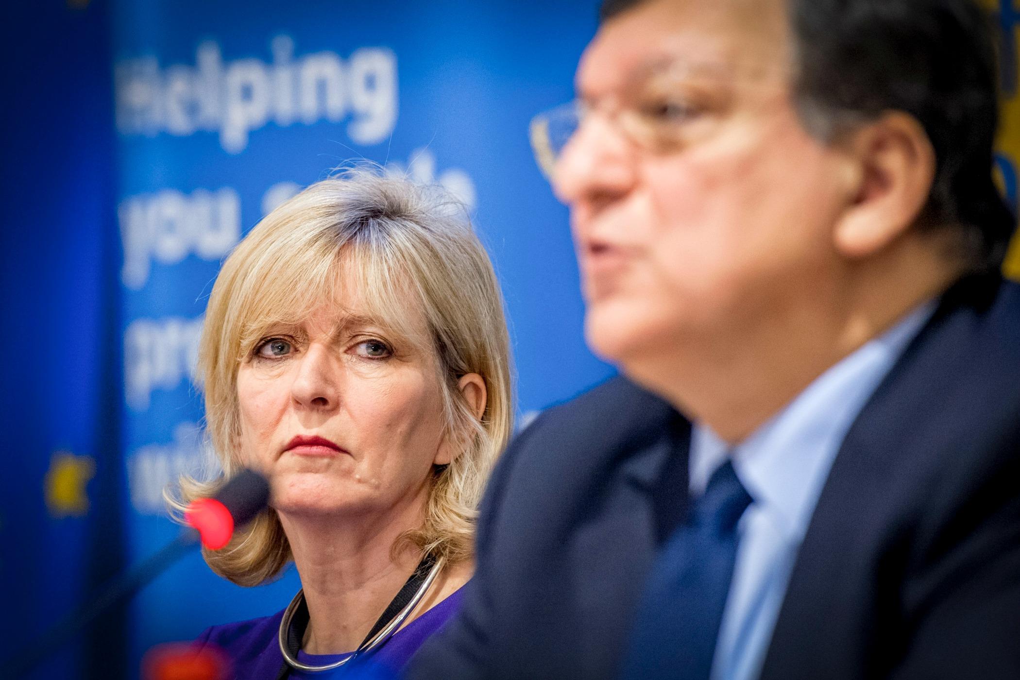 Emily O'Reilly, médiateur européen, en compagnie de José Manuel Barroso [Commission européenne]