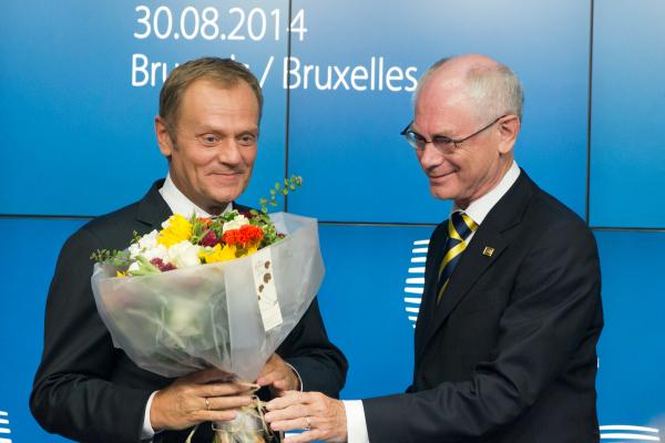 Donald TUSK, Premier ministre polonais et Herman VAN ROMPUY, Président du Conseil européen. ©Conseil de l'Union européenne