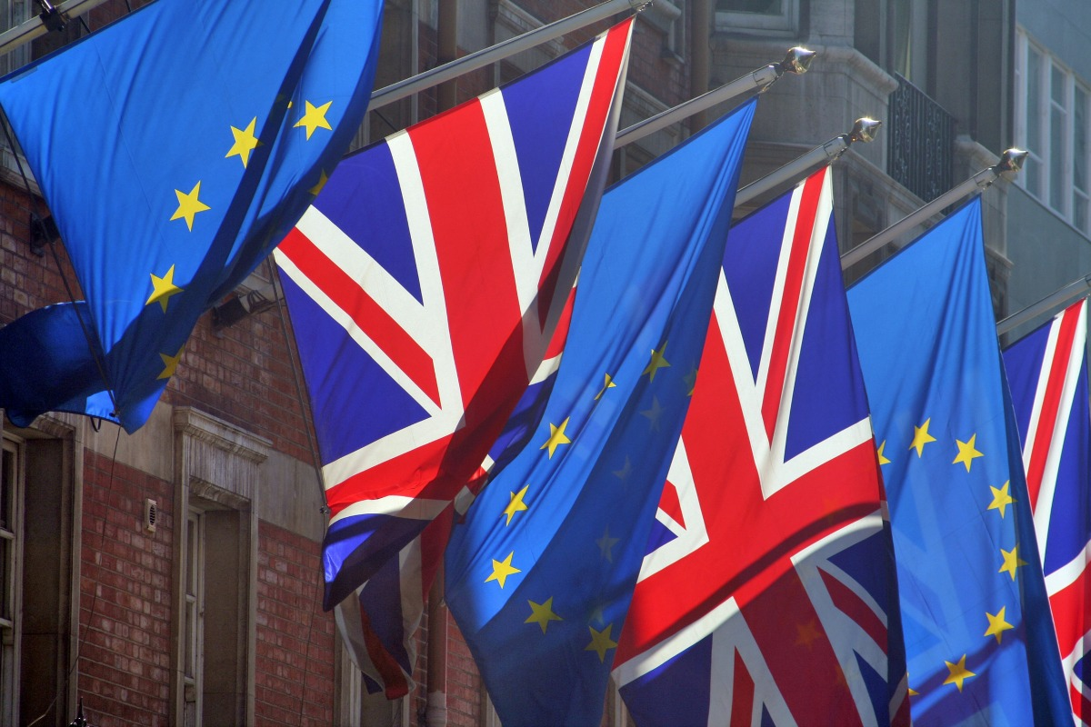 EU and British flags [Shutterstock]