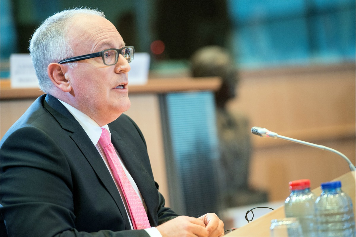 Frans Timmermans at his Parliament hearing [European Parliament / Flickr]