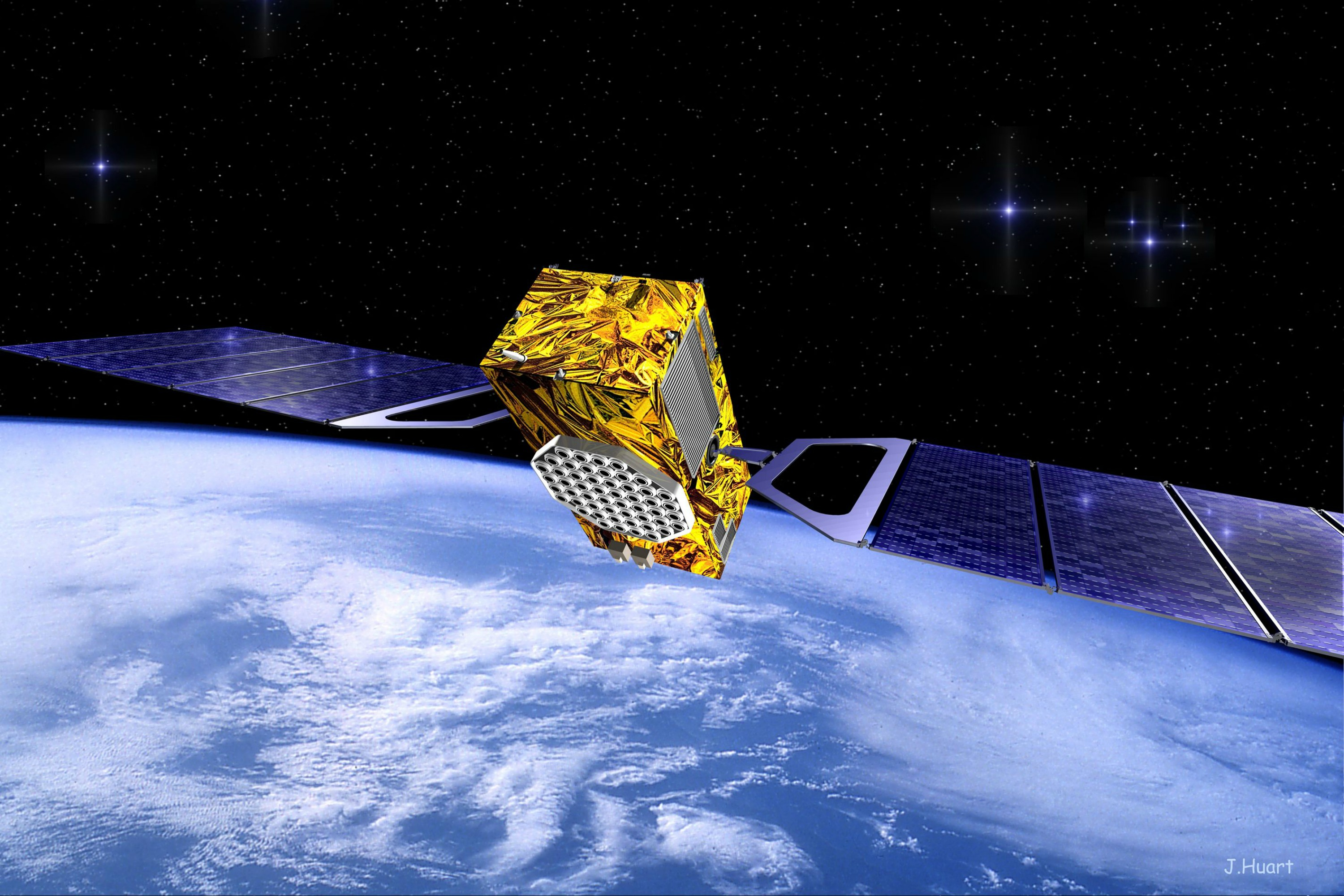 Artist view of a Galileo satellite. Picture: European Commission